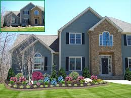home design ideas front landscape ideas front yard landscape with colorful flowers ideas