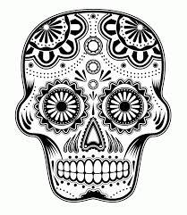 printable coloring pages sugar skulls printable adult coloring pages sugar skull 356412