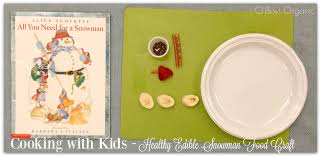 edible snowman food craft