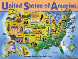 United States Map Puzzles by United States Map Nations Online Project Fun Solving The United