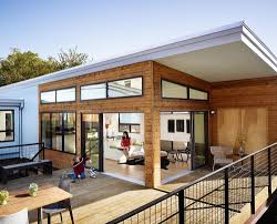 modern wooden house design open space plan terrace building