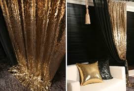 Gold Metallic Curtains Gold Sequins Drop Curtain Decorative Metallic Drapery Panel