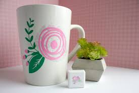 Pretty Mugs Make A One Of A Kind Mint Stamp Mug
