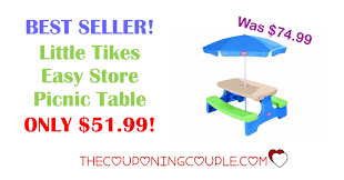 little tikes easy store picnic table best seller little tikes easy store picnic table only 51 99