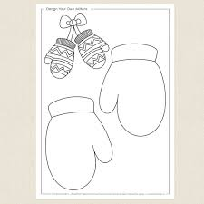 mittens activity sheet cleverpatch