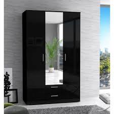 armoire chambre noir laqué finlandek armoire de chambre selkeä contemporain noir laqué