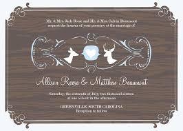 free western wedding invitations templates