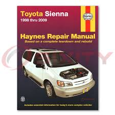 haynes toyota sienna 98 09 repair manual 92090 shop service garage