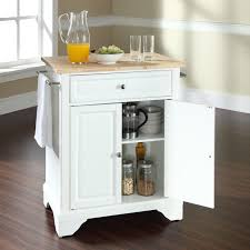 crosley lafayette natural wood top kitchen island ebay