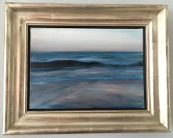 Canvas Without Frame Paul P Canadian Artist Important Oil Painting Ocean Scene Gilt