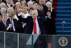 donald trump is sworn in as president vows to end u201camerican