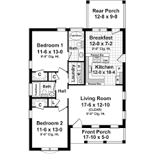 2 Bedroom 1 Bath House Plans Country Style House Plans Plan 2 118