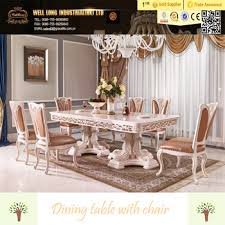 Luxury Dining Table And Chairs Baroque Antique Style Italian Dining Table 100 Solid Wood Italy