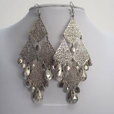 silver chandelier earrings silver chandelier earrings mimi boutique