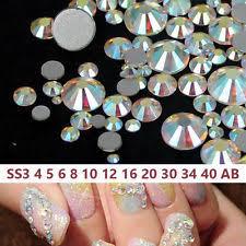multi color rhinestones nail art accessories ebay