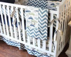 Chevron Boy Crib Bedding Boy Crib Bedding 5psc Baby Boy Bedding Baby Bedding Boy