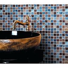 Glass Tile Backsplash Ideas Bathroom Brown Backsplash Tile Glossy Glass Tile Ideas Bathroom Mosaic