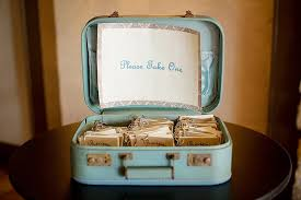 Suitcase Favors by Check Out These Mini Recipe Book Wedding Favors Weddbook