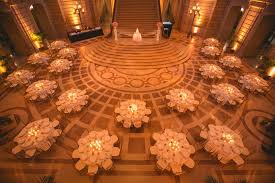 wedding venues in san francisco locations venues photos dinner service in the rotunda of san