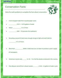 conservation facts u2013 earth day worksheet for grade 4 jumpstart