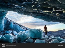 Glacial Ice Cave Svinafellsjokull Glacier In Skaftafell National