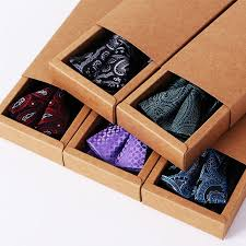 gift box for tie tie knot sets of polyester jacquard square towel bow tie for men