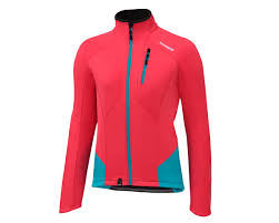bicycle windbreaker jacket shimano women u0027s performance windbreak bike jacket teaberry