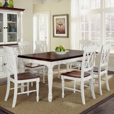 White Dining Room Sets Creditrestoreus - Tribecca home mckay country antique white pedestal extending dining table