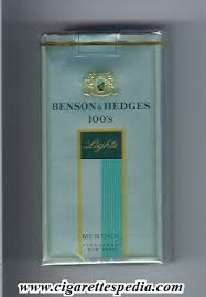 benson and hedges lights menthol l 20 s park avenue emblem