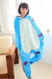 blue flannel pajamas sulley jumpsuit costume pink