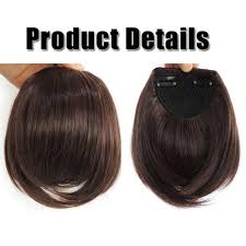 Make Clip In Hair Extensions by Real Natural Hair Extension Clip In Front Hair Bangs Fringe Human