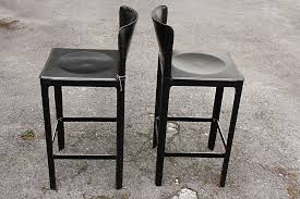 italian leather bar stools vintage italian leather bar stools by matteo grassi set of 2 for