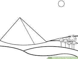 how to draw the egyptian pyramids 5 steps with pictures