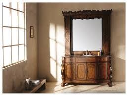 bathroom vanity u0026 hutch mirror homethangscom traditional bathroom