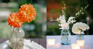 jar floral centerpieces diy style jars preowned wedding dresses