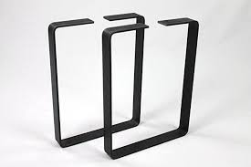 30 inch table legs flat steel metal table legs 81cm 30inch 2 pack