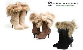 ugg boots australian leather harbour high heel foxy groupon goods