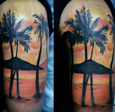tropical palm tree tattoos pictures to pin on tattooskid
