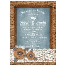 rustic wedding invitation burlap u0026 lace denim u0026 leather metal
