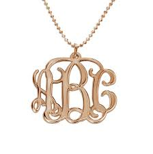 initial monogram necklace 18k gold plated 3 initial monogram necklace mynamenecklace