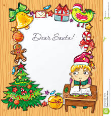 santa claus letters letter to santa claus stock vector illustration of card 22034178
