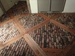 Kitchen Floor Coverings Ideas by Brick Pavers For Kitchen Flooring Ungrouted Brick Veneer Faces