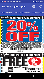 coupons for harbor freight android apps on google play