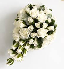silk wedding bouquets ivory large shaped silk wedding bouquet
