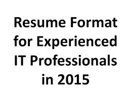Sample Of It Resume by Ece Resume Format Sample Of It Resume Resume Format 2017 It