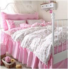 Teen Bedroom Set Bedroom White Headboard Storages Decorate Fashion Cute Flower