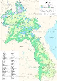 World Language Map by Laos Ethnologue