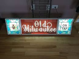 vintage lighted beer signs old milwaukee beer collection on ebay