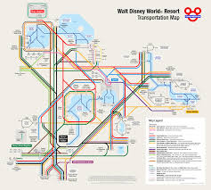 Disney World Magic Kingdom Map Walt Disney World Transportation Map In Metro Style
