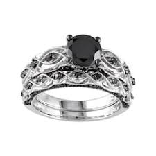black diamond bridal set black diamond bridal sets rings jewelry kohl s